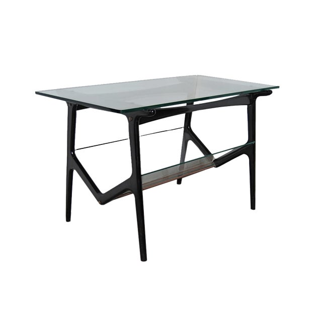 Cesare Lacca Sculptural Glass Table For Sale