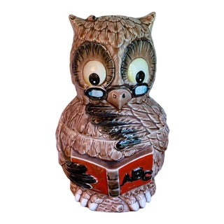 Vintage Owl Cookie Jar - Back to School, Teacher For Sale