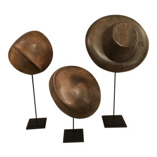 Set of 3 French Millinary Hat Molds
