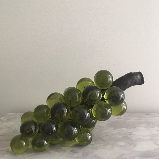 Oversized Green Lucite Grapes - Image 2 of 4
