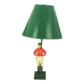 "1950s Traditional ""21"" Club Jockey C50s Lamp For Sale"