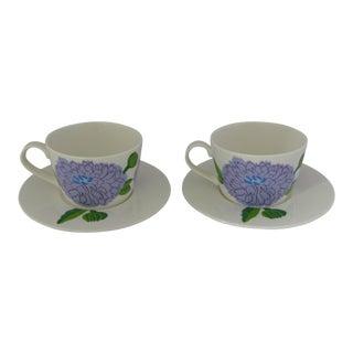 Iittala Primavera Marimekko Coffee Cups & Saucers - 4 Pieces