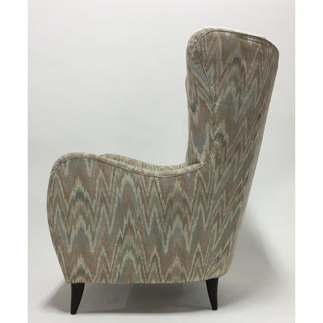 Italian High Back Lounge Chairs - A Pair - Image 4 of 11
