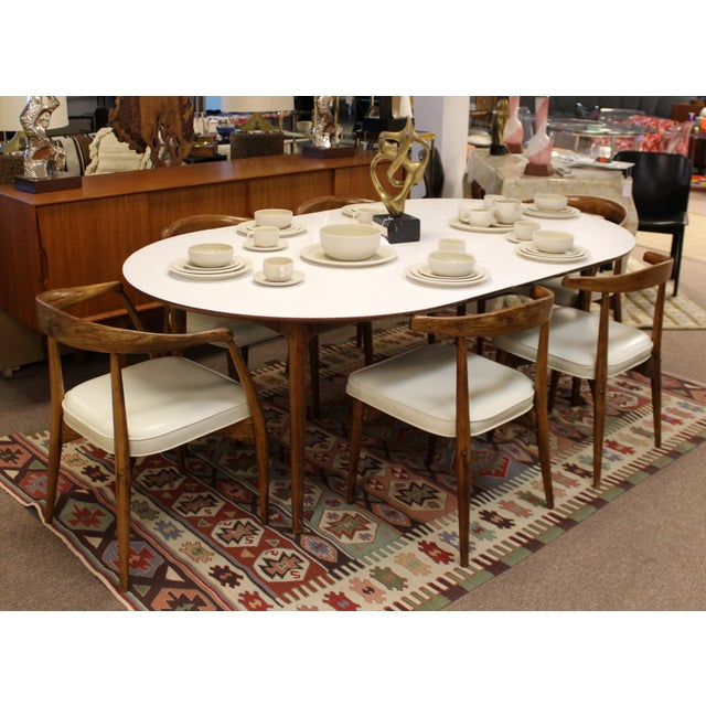 Mid Century Modern Lawrence Peabody Craft Assoc.Dining Table & 6 Side Chairs - Set of 7 For Sale - Image 12 of 13