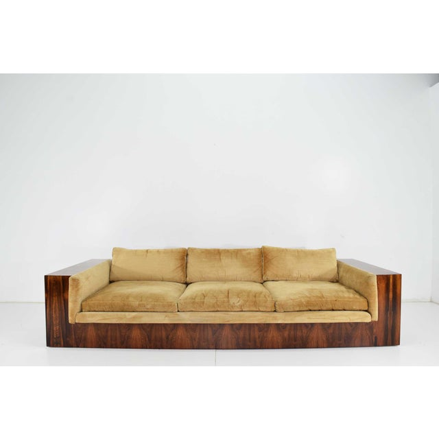 Milo Baughman for Thayer Coggin Milo Baughman for Thayer Coggin Rosewood Case Sofa For Sale - Image 4 of 13