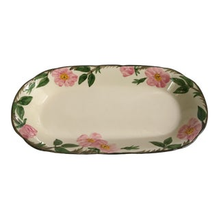Large Size - Franciscan China Desert Rose Hand Painted Long Bread Baker For Sale
