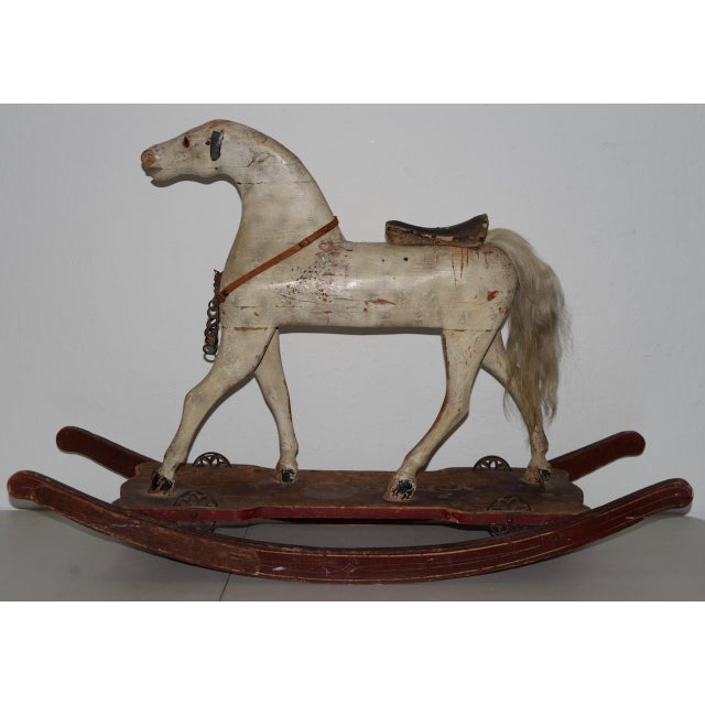 19th Century American Folk Art Rocking Horse For Sale - Image 4 of 11