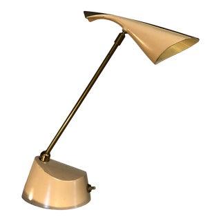 Mid-Century Modern Metal Laurel Desk Lamp For Sale