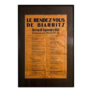 Le Rendez Vous De Biarritz French Poster For Sale