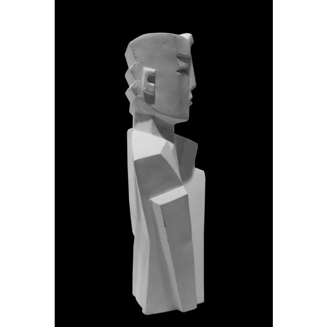 Karin Swildens White Deco Man and Woman Cast Sculptures For Sale In West Palm - Image 6 of 13
