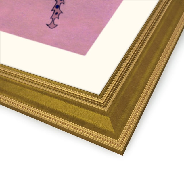 Orange Striped Beetle Set of 6 by Jessica Molnar in Gold Frame, Medium Art Print For Sale - Image 8 of 9