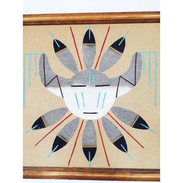 Vintage native american sand art painting chairish vintage native american sand art painting for sale image 4 of 5 freerunsca Images