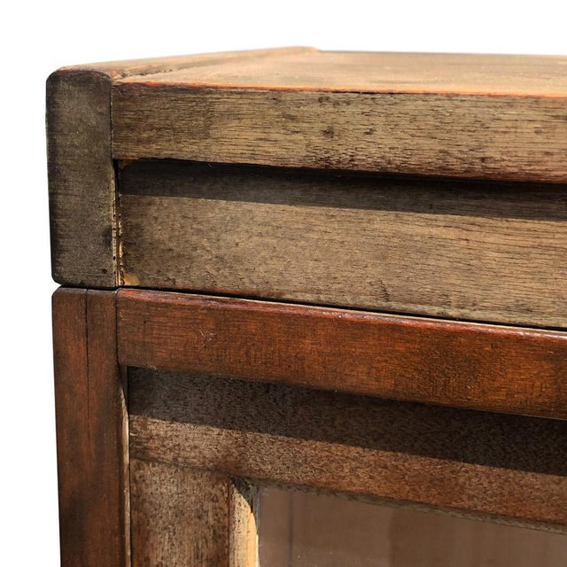 Antique Shiplap Shaw Walker 4 Stack Barrister Bookcase - Image 7 of 10