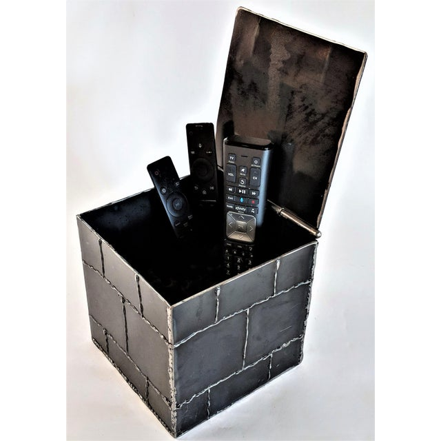 Brutalist Metal Box Hand Welded Box For Sale - Image 12 of 12