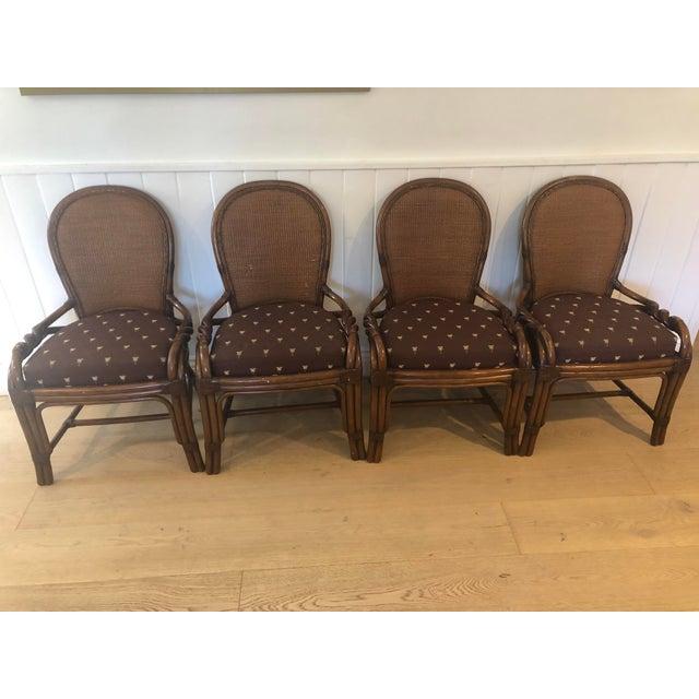 1980s Vintage Palecek Twisted Side Chair- Set of 4 For Sale - Image 13 of 13