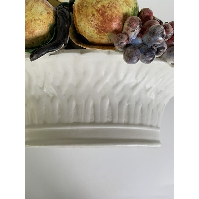 Vintage Italian Porcelain Fruit Topiary Basket For Sale In Wichita - Image 6 of 11