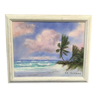 Contemporary Beach Landscape Highwayman Oil Painting by Florida Hall of Fame Artist R. A. McClendon, Framed For Sale