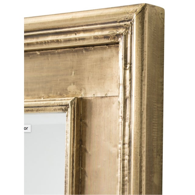 Brenda rectangular mirror. Brass sheeting with stepped frame and beveled mirror. Can be hung vertically or horizontally. 2...