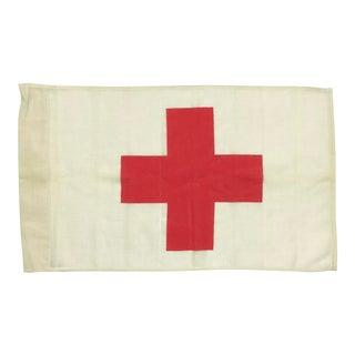 Vintage Red Cross Ambulance Flag For Sale