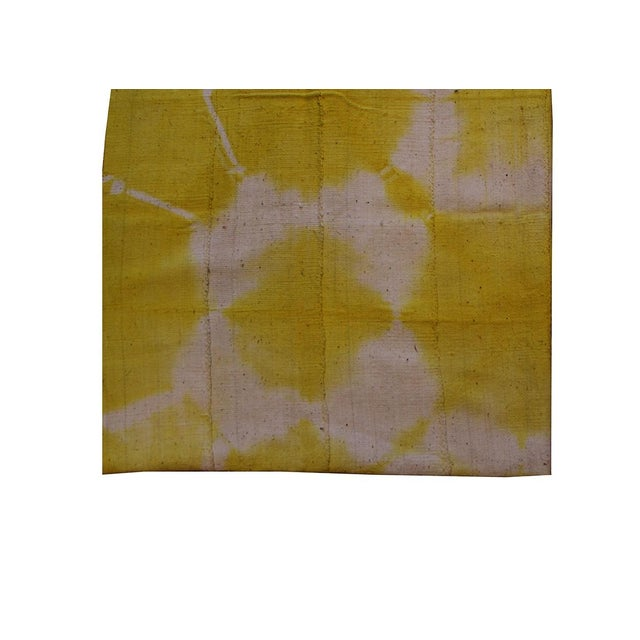 Boho Chic Yellow Mudcloth Textile For Sale - Image 3 of 4