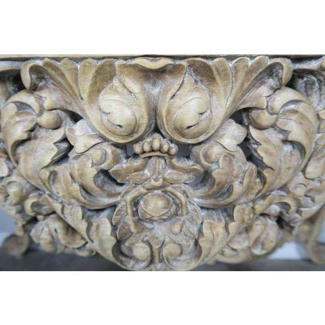 French Rococo Style Console With Centre Drawer For Sale In Los Angeles - Image 6 of 10