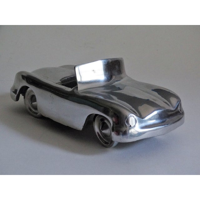 Contemporary Stylized 1950's Chrome Roadster For Sale - Image 3 of 8