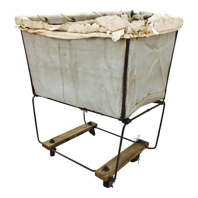 Vintage Laundry Cart Basket For Sale