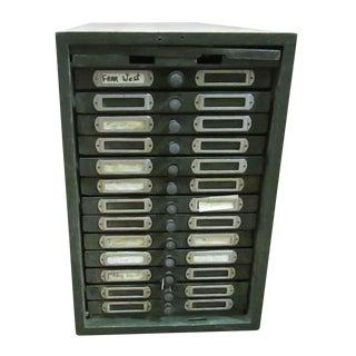 Vintage Metal Filing Cabinet For Sale