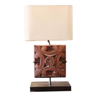 Lamp Fashioned from a Terracotta Tile