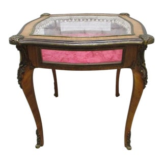 Late 19th Century Antique French Louis XV Style Bijouterie Display Table For Sale