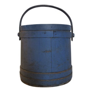 Blue Painted Sugar Bucket For Sale