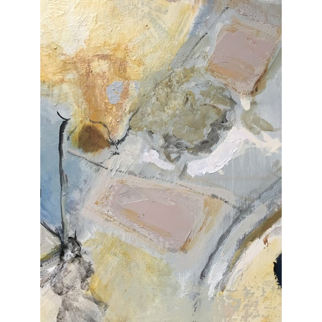Abstract Painting in Grey, Blue, and Ivory - Image 3 of 8