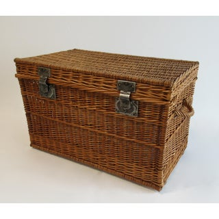 Vintage C.1930s French Willow Wicker Basket Chest Preview