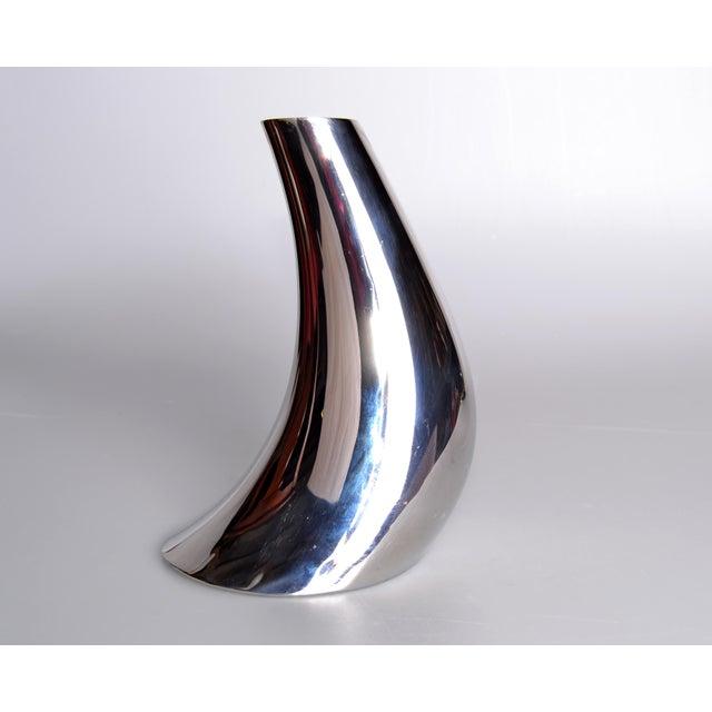 Georg Jensen Cobra Vase Stainless Steel - Image 2 of 8