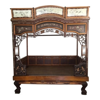 Antique Chinese Wedding Bedframe For Sale