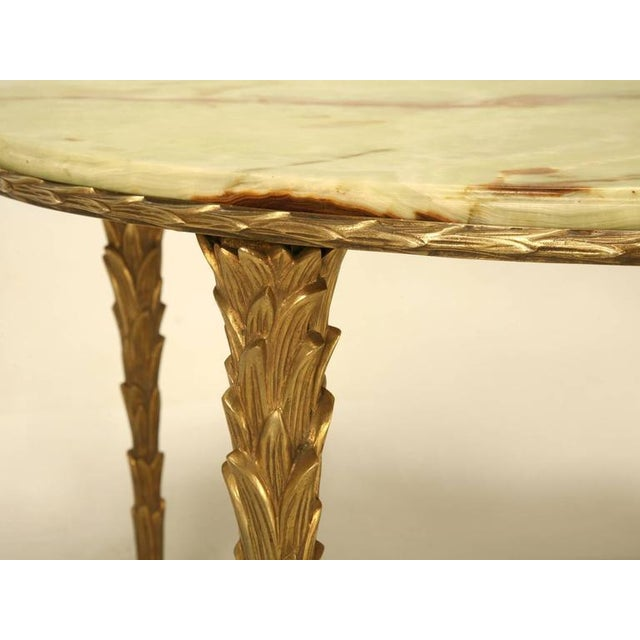 Bronze Maison Bagues Bronze Coffee Table With Onyx Top For Sale - Image 7 of 10
