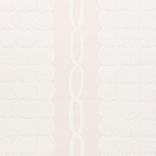 Sample - Schumacher Coralline Wallpaper in Blush For Sale