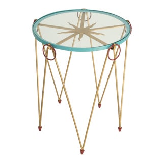 French Mid-Century Modern and Whimsical Side Table For Sale