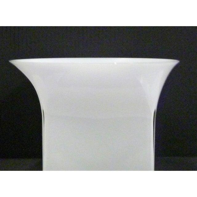 Murano, Venini & Co. 1960s Vintage Sergio Asti for Venini, Murano Mid Century Modern Cased White Glass Vessel For Sale - Image 4 of 13
