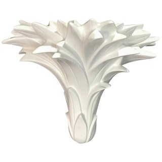 Single Palmette Wall Sconce in the Manner of Serge Roche For Sale