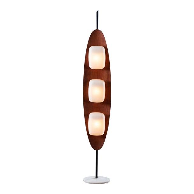 Vintage 1970s Italian Goffredo Reggiani Surfboard Floor Lamp For Sale