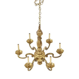Heavy Solid Brass Light Fixture by Chapman For Sale