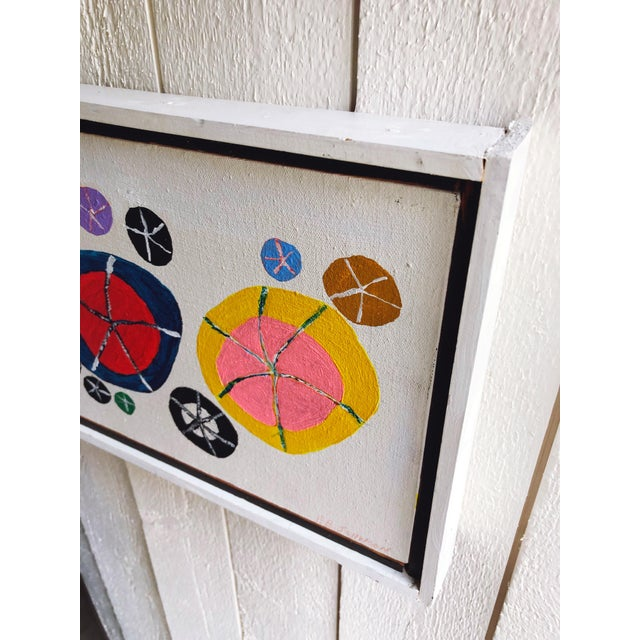 1970s Petite Vintage Abstract Oil and Acrylic Painting For Sale - Image 5 of 7