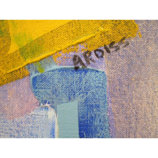 Vintage Abstract Expressionism Painting Non Objective Art Pop Expressionist MCM For Sale - Image 4 of 7