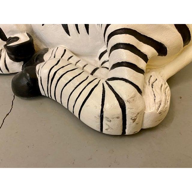 1960s Black & White Zebra Floor Sculpture For Sale - Image 4 of 9