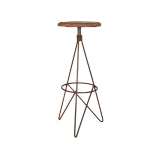 Modern Designe Gallerie Corvin Round Bar Stool For Sale