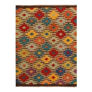 Kilim Arya Liriene Ivory/Brown Wool Rug -2'6 X 4'2 For Sale