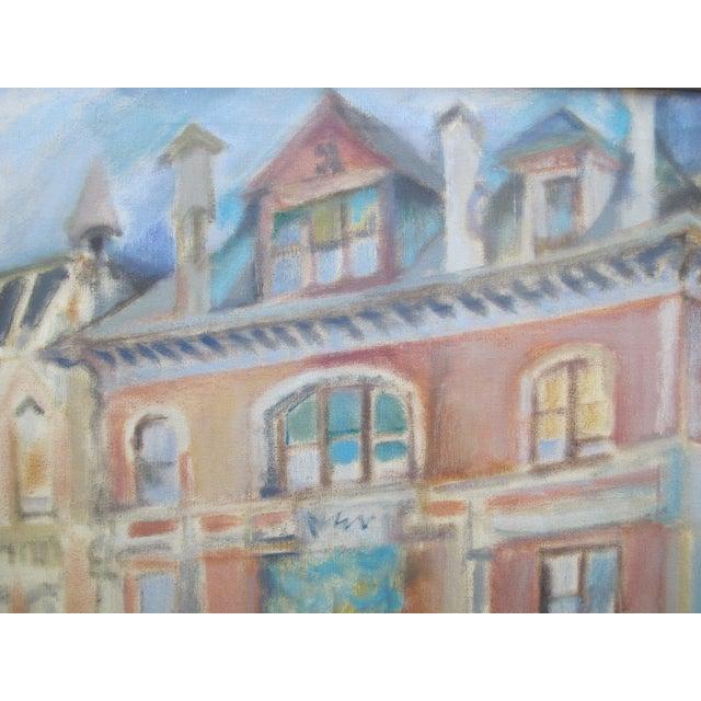 Arts & Crafts 1957 LaVerne Krause Signed Idaho Coeur d'Alene Building Framed Oil Painting For Sale - Image 3 of 9