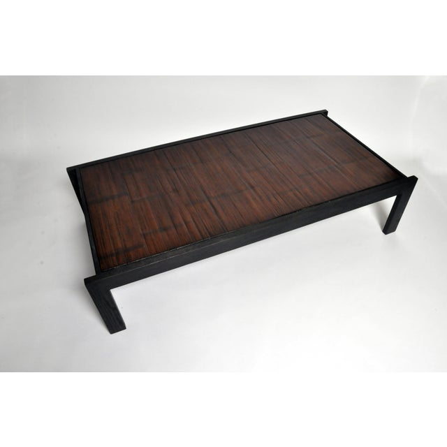 Custom Bamboo Top Coffee Table For Sale - Image 9 of 13