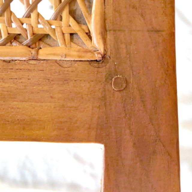 19th C. Hand-Crafted Italian Mahogany & Wicker Curule Form Savonarola Bench For Sale - Image 4 of 7
